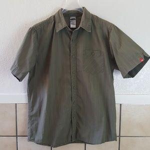 The North Face Green lightweight hiking shirt